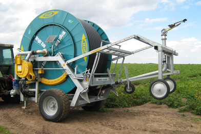 IG2 D110-550 hose-reel irrigator with standard axle